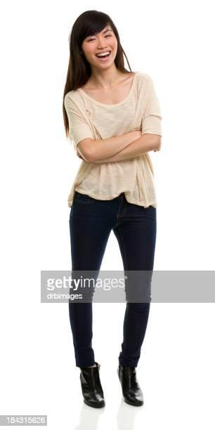 Glücklich Lachen Junge Frau Porträt