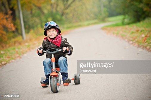 Happy Little Biker
