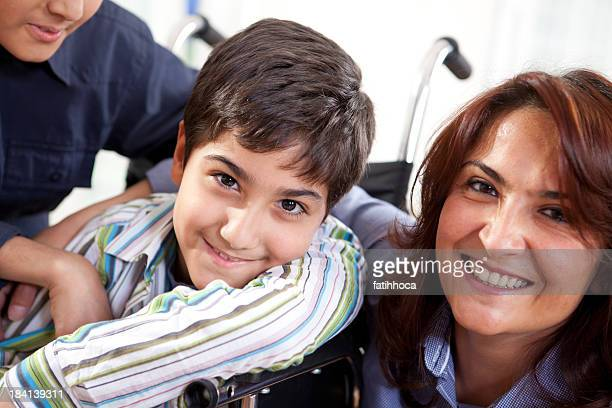 Happy Little Boy and Mother