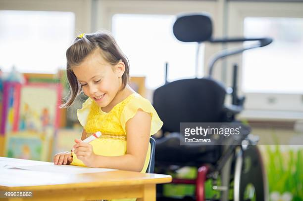 Happy Little Girl Coloring