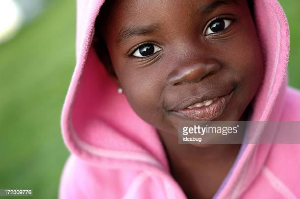 Happy Little Girl Smiling Outside