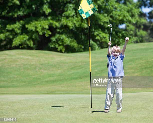 Happy Little Golfer