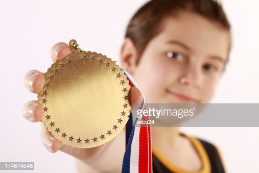 Happy Little Medal Winner