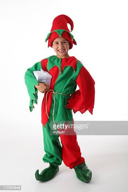 happy little santa helper