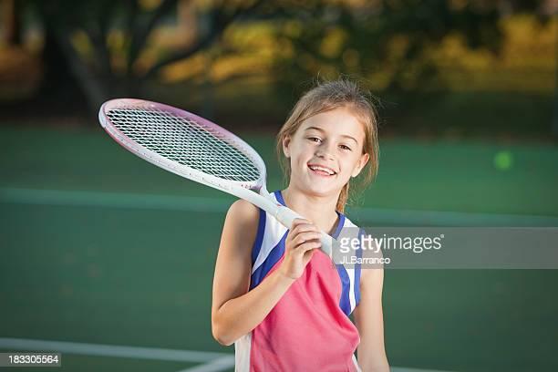 Happy Little Tennis Player