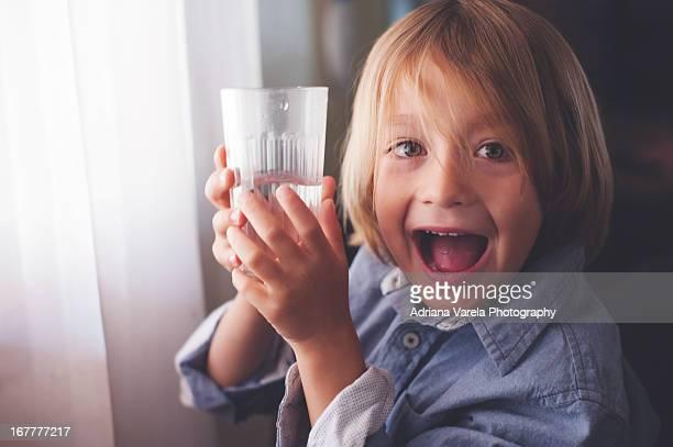Happy little water drinker