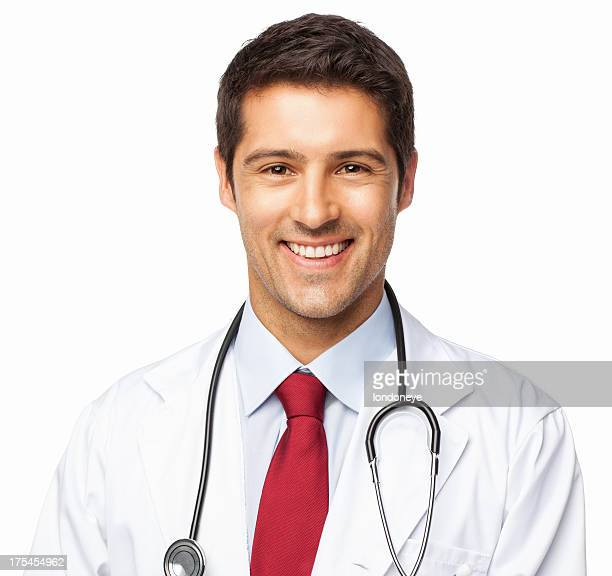 Happy Male Doctor - Isolated