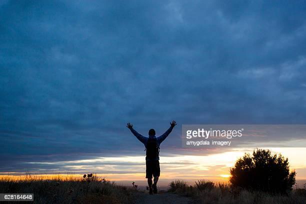 happy man nature inspiration