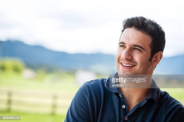 ハッピーな男性笑顔
