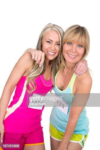 happy marathoners : Stock Photo