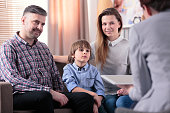 Happy marriage with son during meeting with counselor