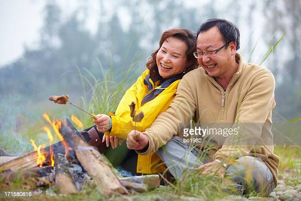happy mature couple dating