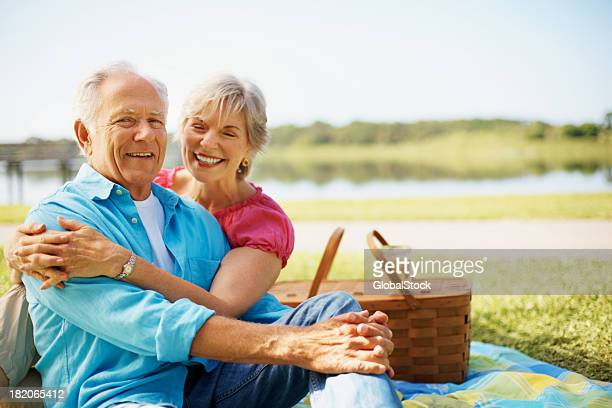 Happy mature couple enjoying their holiday