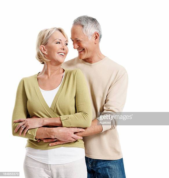 Happy mature couple looking at each other
