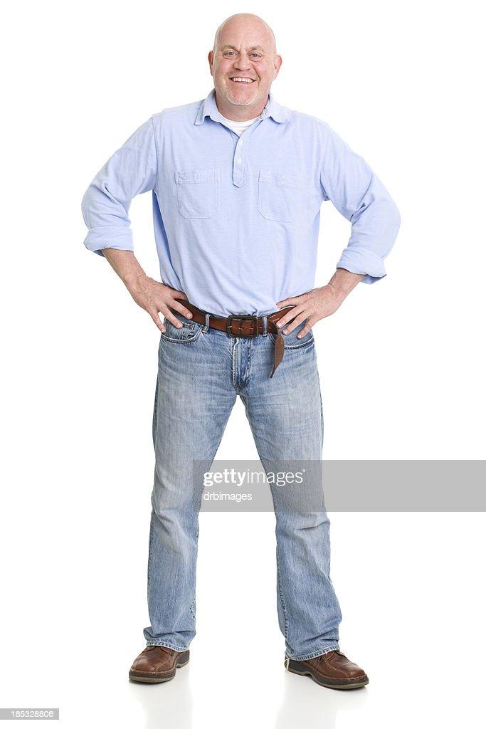 Happy Mature Man Standing Portrait