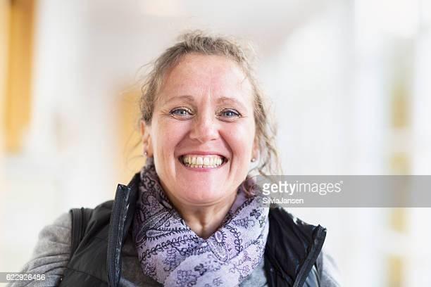 happy mature woman portrait