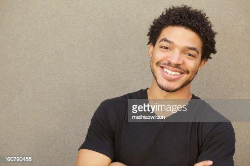 Happy Mixed Race Male Smiling Portrait