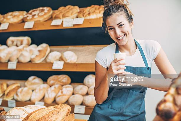 Happy morning in the bread shop
