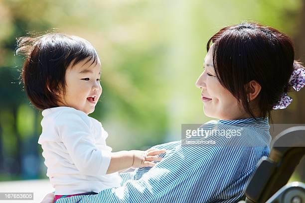Glückliche Mutter und Baby boy