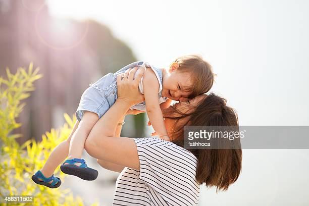 Feliz Madre y bebé