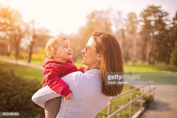 Heureuse mère et son enfant