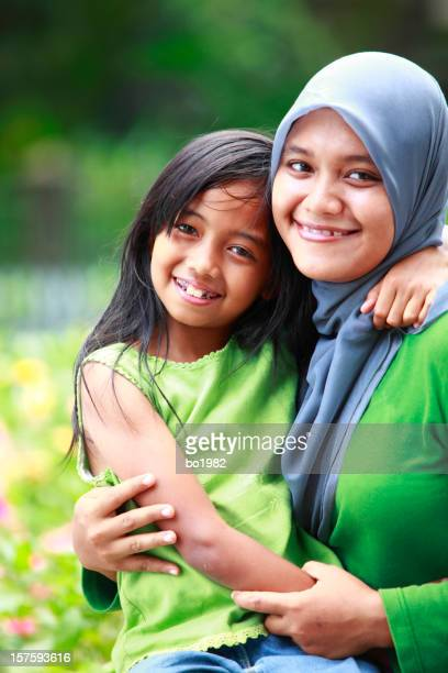happy mother and her daugher