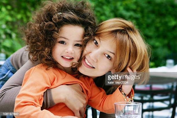 happy mother and smiling  daughter