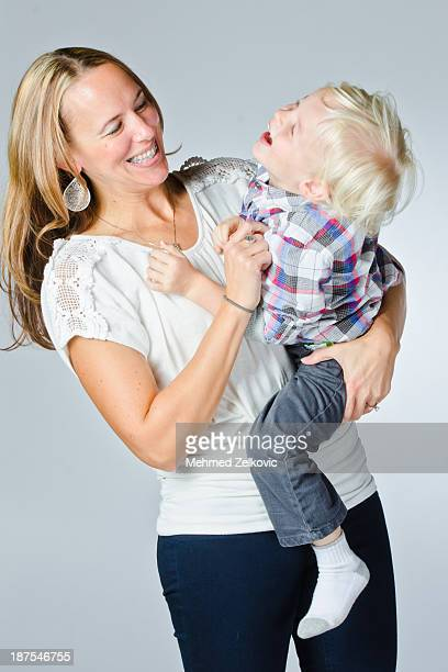 Happy Mother and Son Portrait