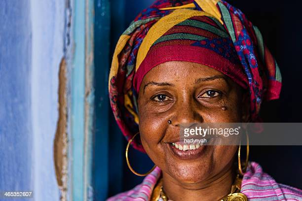 Happy Muslim woman in Southern Egypt
