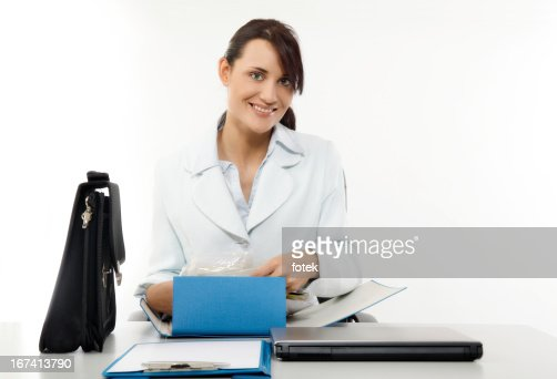 Happy office worker : Stock Photo