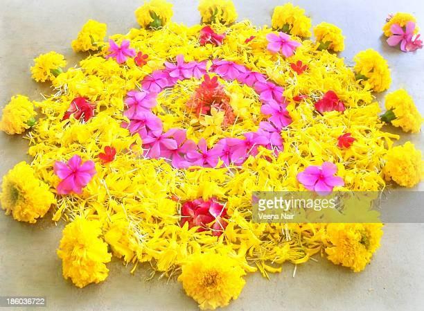 Happy onam, floral carpet