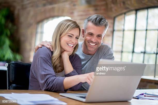 Happy online couple