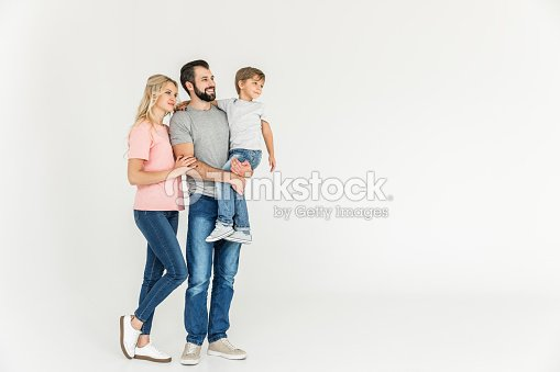 happy parents with son : Stock Photo