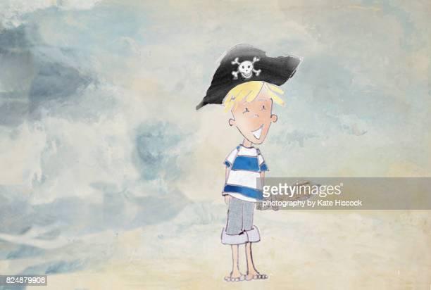 Happy Pirate Boy Watercolour