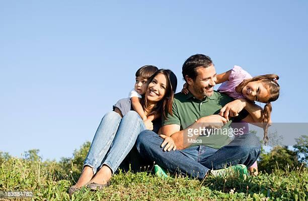 Happy spielerische Familie