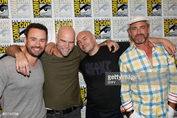 DIEGO 'Happy Press Room' Pictured Patrick MacManus Brian Taylor Grant Morrison Chris Meloni