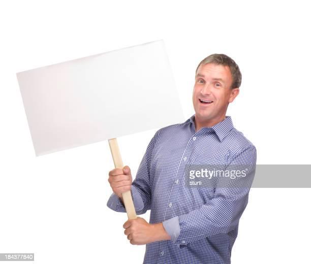 happy protester