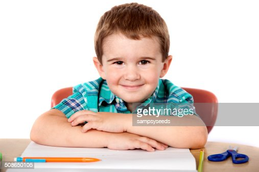 Happy School Boy : Stock Photo