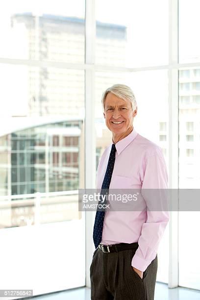 Happy senior CEO
