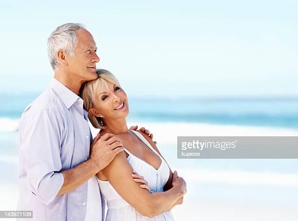 Happy senior couple enjoying the surrounding