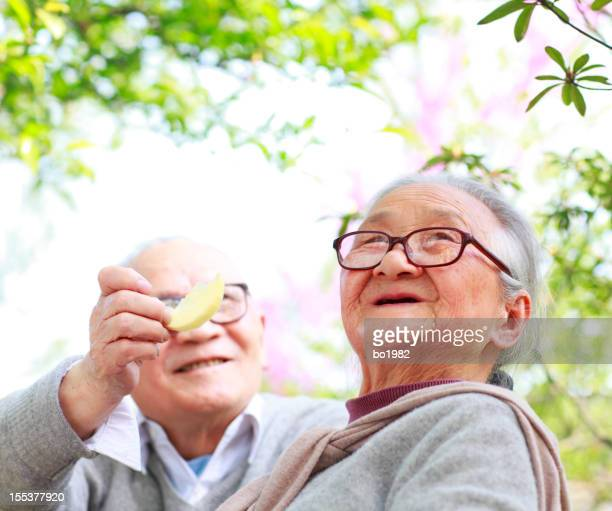 happy senior couple together