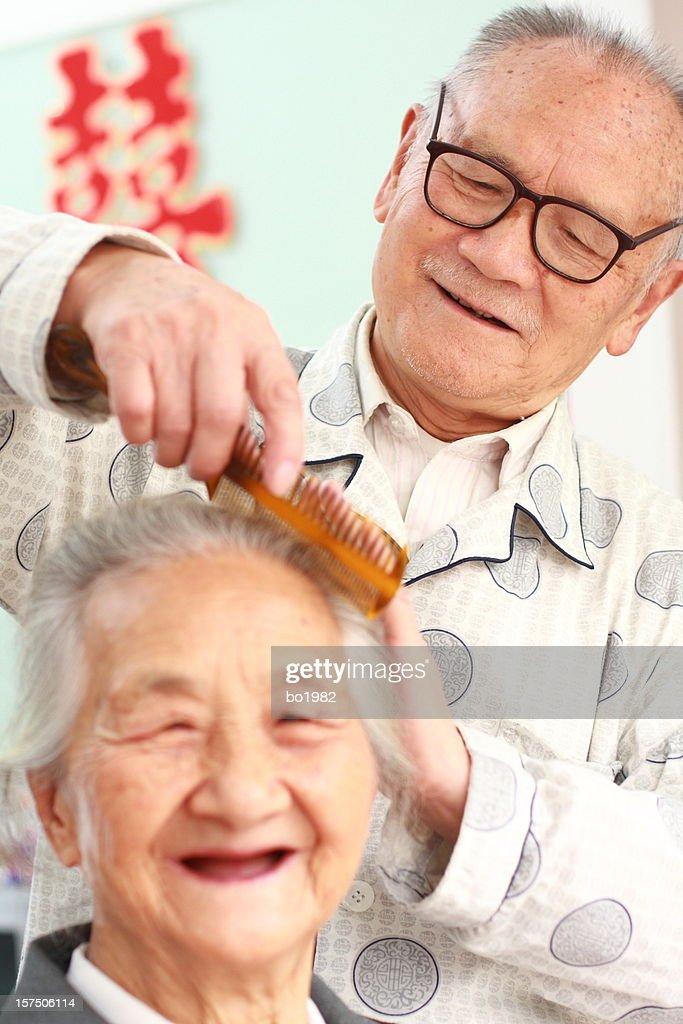 happy senior couple together : Stock Photo