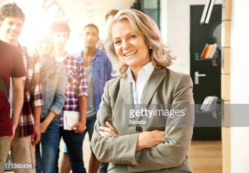 Happy Senior Female Professor