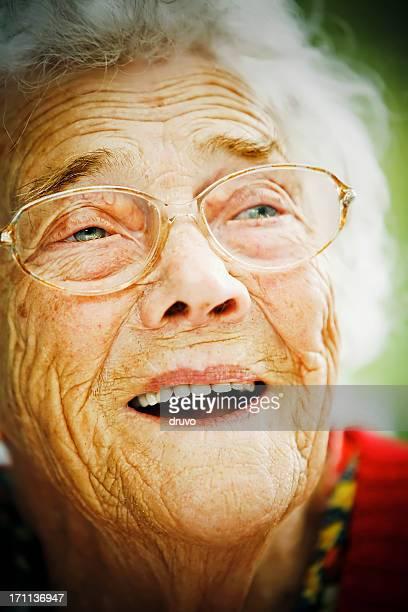 Happy Senior Dame