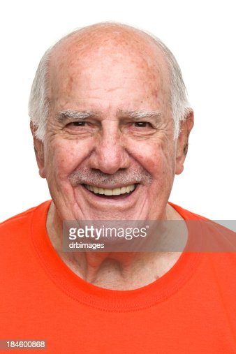Feliz Homem Idoso : Foto de stock