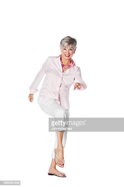Happy Senior Woman Dancing