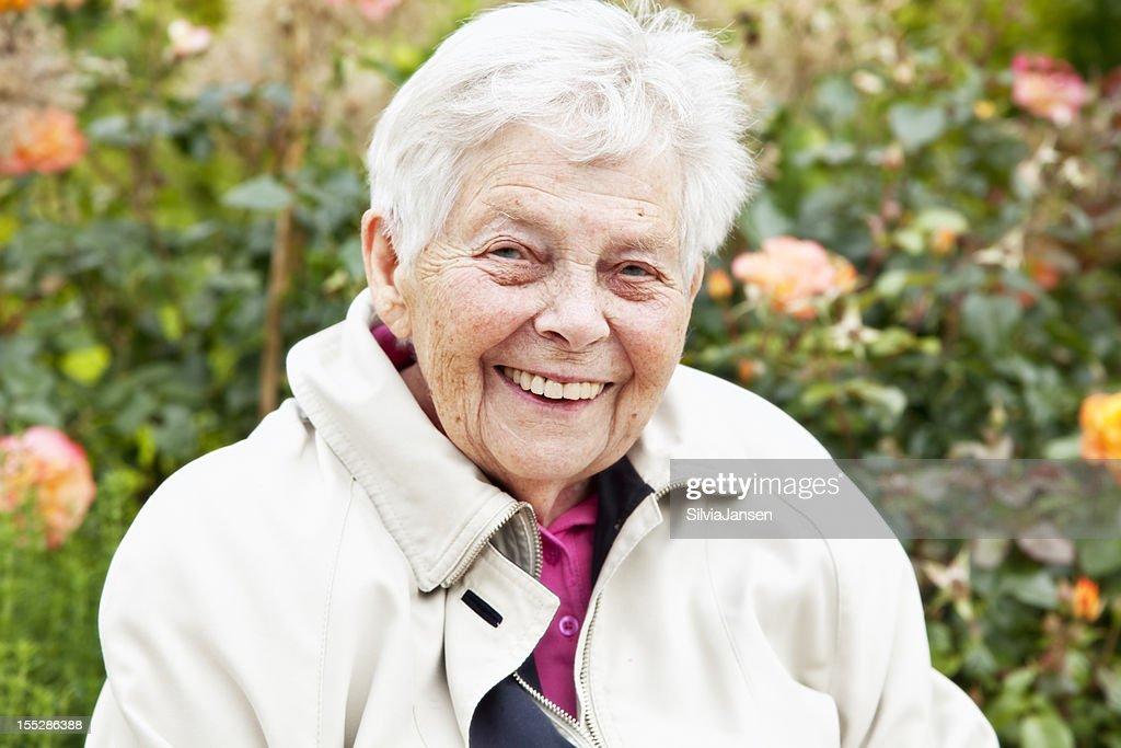 happy senior woman summer portrait