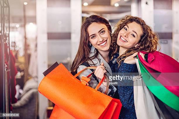 Glückliches shopping