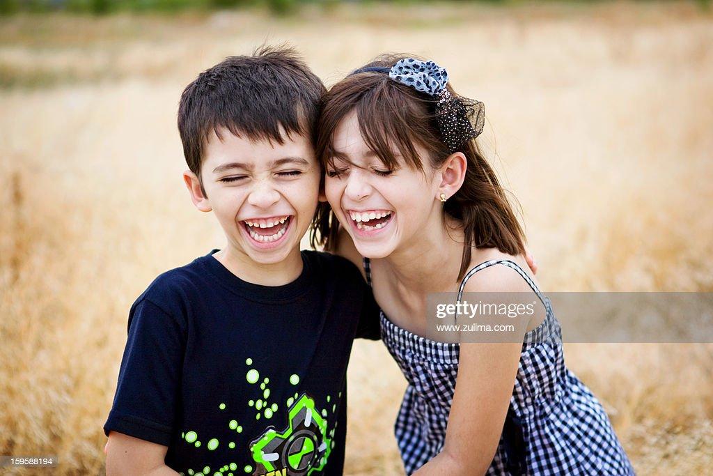 Happy Siblings : Stock Photo