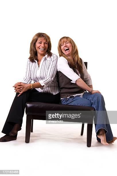 Happy Sitting Women